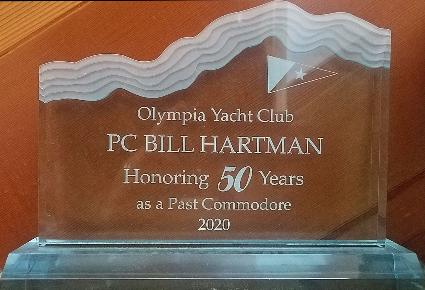 Olympia Yacht Club -- 50 years as Past Commodore