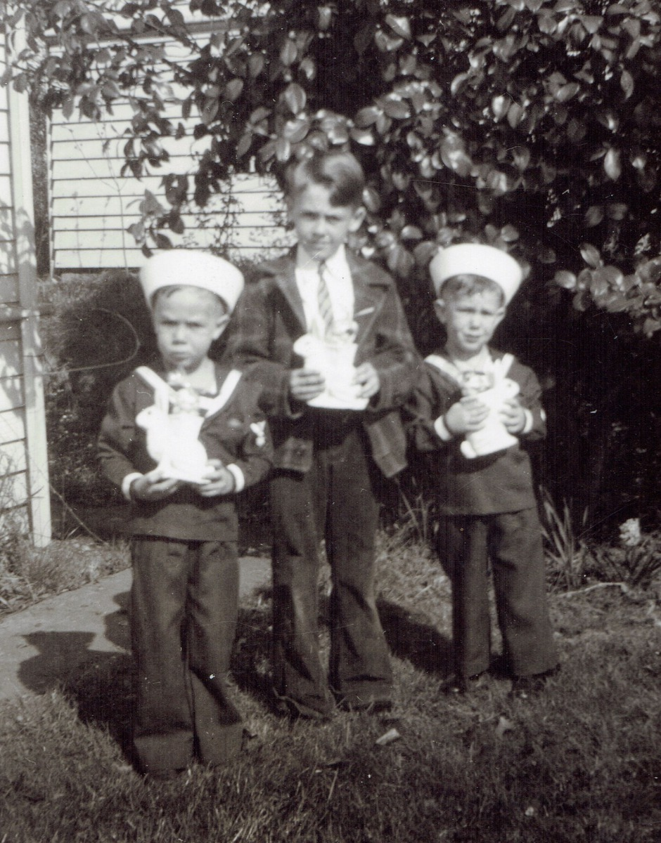 Approx. 1945 Bill,  brother Don & brother Bob