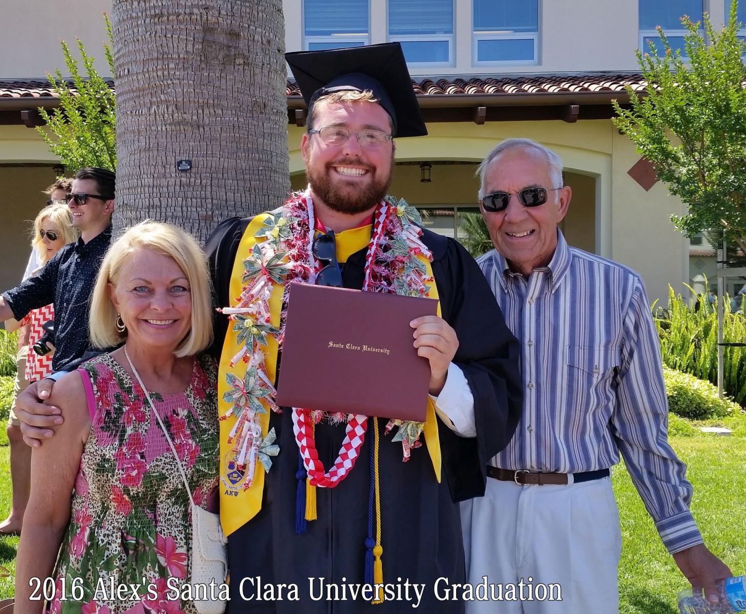 June 2016 -- Alex's Graduation from Santa Clara University