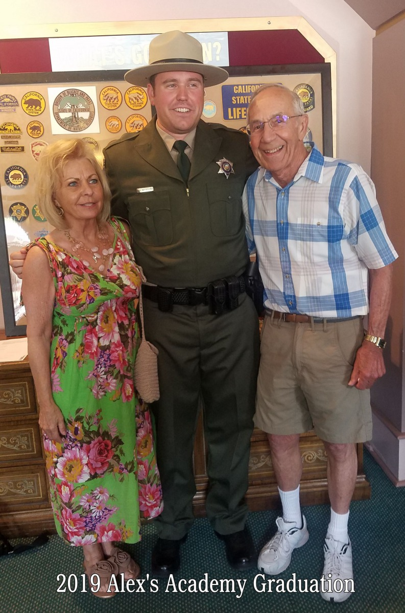June 2019 -- Alex's Graduation from CA State Park Ranger Academy